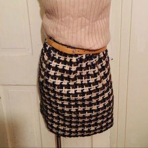 Saks Fifth Ave Vintage Boucle wool Skirt - 8 tweed